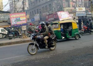 In Delhi both riders need helmets quality immaterial!